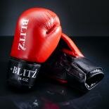 Clearance -  Standard Leather Boxing Gloves Red 14oz